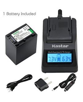 Kastar Fast Charger + NP-FV100 Battery (1X) for Sony DCR-SR21, SR68, SR88, SX15, SX21, SX44, SX45, SX63, SX65, SX83, SX85, HDR-CX110, CX115, CX130, CX150, CX160, XR160, CX360, CX560, CX700, PJ30, PJ50