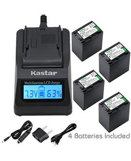 Kastar NP-FV100 Fast Charger and Battery, Compatible with DCR-SR15 DCR-SR21 DCR-SR58 DCR-SX63 DCR-SX65 DCR-SX83 DCR-SX85 NEX-VG900 HXR-MC50 HXR-NX30 HXR-NX70 HXR-NX80 PXW-Z90V PXW-X70 Camcorders