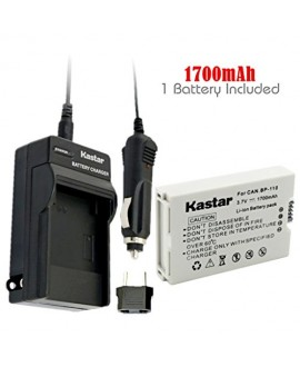 Kastar BP110 Battery (1-Pack) and Charger Kit for Canon BP-110 and Canon VIXIA HF R20, HF R21, HF R200, HF R26, HF R28, HF R206, XF105 Cameras