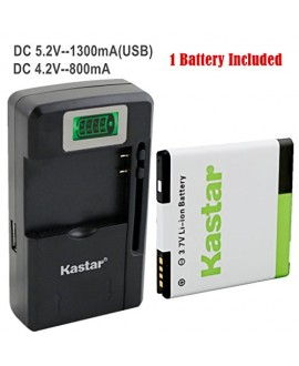 Kastar G14 / BG58100 Battery (1-Pack) and intelligent mini travel Charger ( with high speed portable USB charge function) for HTC G14, HTC BG58100, HTC EVO 3D (Fits BG86100), HTC Sensation, HTC Amaze, HTC MyTouch 4G Slide, HTC Sensation XE, HTC Sensation