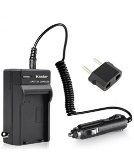 Kastar Travel Charger Kit Replacement for Panasonic CGA-S002 DMW-BM7 and Panasonic Lumix DMC-FZ1 DMC-FZ2 DMC-FZ3 DMC-FZ4 DMC-FZ5 DMC-FZ10 DMC-FZ15 DMC-FZ20 Cameras