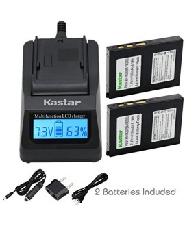 Kastar Ultra Fast Charger(3X faster) Kit and Battery (2-Pack) for BN-VM200 BN-VM200U work with JVC GZ-MC100 GZ-MC200 GZ-MC500 GZ-MC100EK GZ-MC200E GZ-MC500EK GZ-MC100EX GZ-MC200EX GZ-MC500EX GZ-MC100US GZ-MC200US GZ-MC500US Cameras [Over 3x faster than a