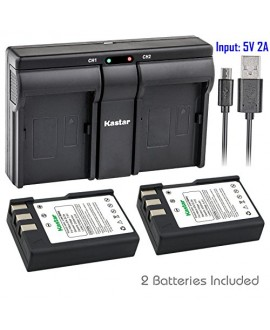Kastar ENEL9 2x Battery + USB Dual Charger for Nikon EN-EL9, ENEL9, EN-EL9a, ENEL9A, MH-23 and Nikon D3000, D5000, D40, D60, D40X SLR Cameras