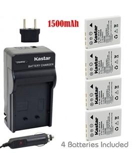 Kastar Battery (4-Pack) and Charger Kit for EN-EL8 MH-62 and Nikon Coolpix P1 P2, Coolpix S1 S2 S3 S5 S6 S7 S7c S8 S9, Coolpix S50 S50c, Coolpix S51 S51c, Coolpix S52 S52c, Cool-Station MV-11, MV-12