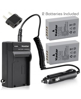 [Fully Decoded] Kastar EN-EL24 Battery (2-Pack) and Charger Kit for Nikon EN-EL24 ENEL24 Rechargeable Li-ion Battery work with Nikon 1 J5 Camera