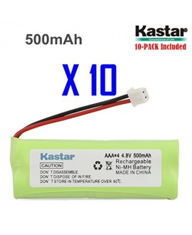 Kastar 10-PACK 4.8V 500mAh Ni-MH Rechargeable Battery Replacement for Dogtra BP12RT Dog Training Collar Receiver and 1900 NCP, 1902 NCP, 300M, YS500, SureStim H Plus, 1900 NCP, 302M and more Models