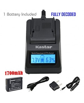 Kastar Ultra Fast Charger(3X faster) Kit and Battery (1-Pack) for Panasonic DMW-BCG10, DMW-BCG10E, DMW-BCG10PP, DMW-BCG10GK, DE-A65, DE-A66 and Panasonic Lumix DMC-3D1, DMC-SZ8, DMC-TZ2,DMC-TZ6, DMC-TZ7, DMC-TZ8, DMC-TZ10, DMC-TZ18, DMC-TZ19, DMC-TZ20, DM