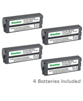 Kastar Battery NB-CP2L (4-PACK) for Canon NB-CP1L NB-CP2L and Canon Compact Photo Printers SELPHY CP100 CP200 CP220 CP300 CP330 CP400 CP510 CP600 CP710 CP730 CP770 CP780 CP790 CP800 CP900 CP910