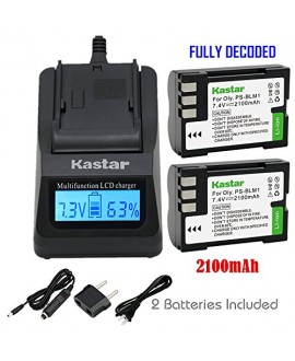 Kastar Ultra Fast Charger(3X faster) Kit + Battery (2-Pack) for Olympus BLM-1, BLM-01, PS-BLM1 work for Olympus C-5060, C-7070, C-8080, E-1, E-3, E-30, E-520, EVOLT E-300, E-330, E-500, E-510 Cameras