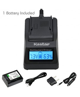 Kastar Ultra Fast Charger(3X faster) Kit and BP210E Battery (1-Pack) for Samsung IA-BP210R IA-BP210E IA-BP420E and SMX-F44 F50 F53 F54 F500 F501 F530 HMX-F80 F90 H200 H300 H304 S10 S15 S16 Camera