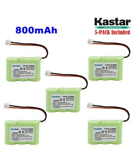 Kastar 5-PACK 2/3AA 3.6V 800mAh EH Ni-MH Rechargeable Battery for AT&T 2422 80-5074-00-00 Lucent 2422 Vtech ia5870 ia5882 Sanik 3SN-2/3AA30-S-J1 Cordless Phone (Check your Cordless Phone Model down)