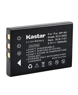 Kastar Battery (3-Pack) for Fujifilm NP-60, Kodak KLIC-5000, Samsung SLB-1137, Olympus Li-20B work with Fujifilm FinePix 50i, 601, F401, F410, F601, M603, Kodak EasyShare DX6490, DX7440, DX7590, DX7630, LS420, LS433, LS633, LS743, LS753, One Series, P712,
