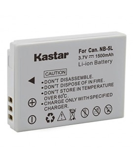 Kastar NB-5L Battery (1-Pack) for Canon PowerShot S100, S110, SD700, SD790, SD800, SD850, SD870 IS, SD880 IS, SD890 IS, SD900 IS, SD950 IS, SD970 IS, SD990 IS, SX200 IS, SX210 IS, SX220 IS, SX230 HS