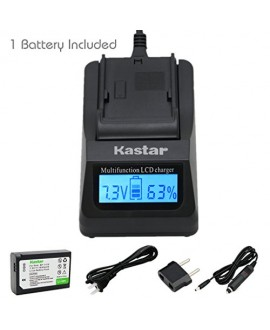 Kastar Ultra Fast Charger(3X faster) Kit and BP-1410 Battery (1-Pack) for Samsung BP1410 and NX30 WB2200F Digital Cameras