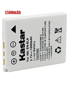 Kastar Battery (1-Pack) for EN-EL8 MH-62 and Nikon Coolpix P1 P2, Coolpix S1 S2 S3 S5 S6 S7 S7c S8 S9, Coolpix S50 S50c, Coolpix S51 S51c, Coolpix S52 S52c, Cool-Station MV-11, MV-12
