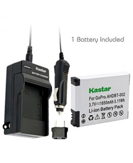 Kastar AHDBT-002 Battery (1-Pack) and Charger Kit for GoPro AHDBT-001, AHDBT-002 work with GoPro HD HERO1, HERO2, GoPro Original HD HERO Cameras
