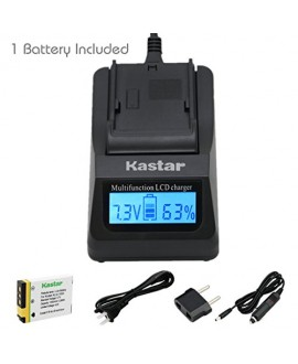 Kastar Ultra Fast Charger(3X faster) Kit and Battery (1-Pack) for Kodak KLIC-7003, K7003, and GE GB-40 work for Kodak EasyShare M380, EasyShare M381, EasyShare M420, EasyShare V803, EasyShare V1003, EasyShare Z950 and GE E1030, E1040, E1050TW, E1240, E125