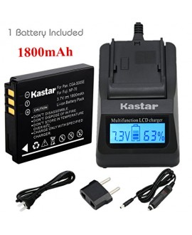 Kastar Ultra Fast Charger(3X faster) Kit and Battery (1-Pack) for Fujifilm NP-70, Panasonic Lumix CGA-S005, DMW-BCC12, DE-A12 work with Fuji FinePix F20, F20 Zoom, F40fd, F45fd, F47fd and Panasonic Lumix DMC-FS2, DMC-FX1, FX3, FX7, FX8, FX9, DMC-FX10(FX10