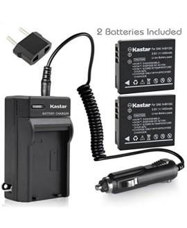 Kastar Battery X2 & AC Travel Charger for Samsung IA-BH125C Ricoh DB-65 Sigma BP-41 Pentax D-Li106 Samsung HMX-R10 Ricoh GR GR-II GR-III GR-IV G700 GR Digital Sigma DP3M DP2 Merrill Pentax MX-1 X90