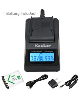Kastar Fast Charger and Battery (1-Pack) for Sony NP-BX1, M8 and Cyber-shot DSC-HX50V, HX300, RX1, RX1R, RX100, RX100M, RX100M3, WX300, HDR-AS10, AS15, AS30V, AS100V, AS100VR, CX240, MV1, PJ275 Camera