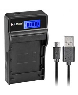 Kastar SLIM LCD Charger for Panasonic CGA-DU07 and NV-GS40 GS44 GS47 GS50 GS55 GS57 GS58, PV-GS150 GS180 GS200 GS300 GS320 GS400 GS500, SDR-H250 H280, VDR-D258 D300 D308 D310 D400 M74 M75 M95 M250