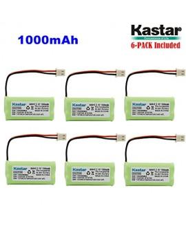 Kastar 6-PACK AAAX2 2.4V 1000mAh 5264 Ni-MH Rechargeable Battery for BT-166342 BT-266342 BT-283342 AT&T EL51100 EL51200 EL51250 EL52200 EL52210 EL52250 EL52300 EL52350 EL52400 EL52450 EL52500 EL52510