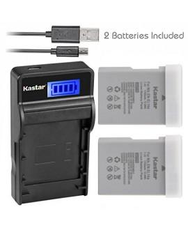 Kastar Battery (X2) & SLIM LCD Charger for Nikon EN-EL14a, EN-EL14, ENEL14A, ENEL14 EL14 & Nikon Coolpix P7000 P7100 P7700 P7800, D3100, D3200, D3300, D3400, D5100, D5200, D5300 DSLR, Df DSLR, D5600
