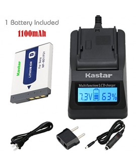 Kastar Fast Charger and Battery (1-Pack) for Sony NP-BD1, NP-FD1, BC-CSD and Cyber-shot DSC-G3, DSC-T2, DSC-T70, DSC-T75, DSC-T77, DSC-T90, DSC-T200, DSC-T300, DSC-T500, DSC-T700, DSC-T900, DSC-TX1