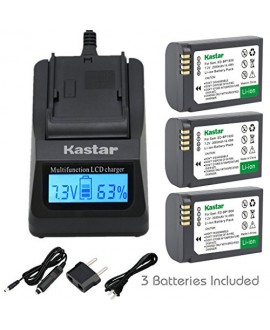Kastar Ultra Fast Charger(3X faster) Kit and Battery (3-Pack) for Samsung ED-BP1900, BP1900 Battery and Samsung NX1 Smart Wi-Fi 4K Digital Camera