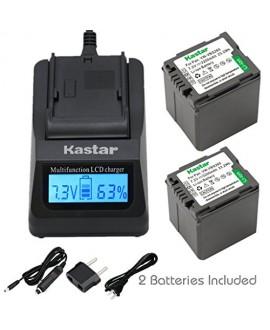Kastar Fast Charger and VW-VBG260 Battery (2X) for Panasonic AG-AC7 AG-AF100 AG-HMC40 AG-HMC80 AG-HMC150 HDC-HS250 HDC-HS300 HDC-HS700 HDC-SD600 HDC-SD700 HDC-SDT750 HDC-TM300 HDC-TM700 SDR-H80 Camera
