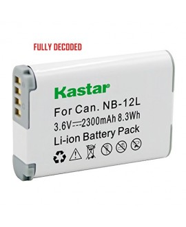 [Fully Decoded] Kastar Battery (1-Pack) for Canon NB-12L work for Canon PowerShot G1 X Mark II, Canon PowerShot N100, Canon VIXIA mini X (LEGRIA mini X) Digital Cameras