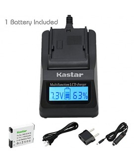 Kastar Fast Charger and Battery 1 Pack for Panasonic DMW-BCM13 DMW-BCM13PP & Lumix DMC-FT5 DMC-LZ40 DMC-TS5 DMC-TZ37 DMC-TZ40 DMC-TZ41 Lumix DMC-TZ55 DMC-TZ60 Lumix DMC-ZS27 DMC-ZS30 DMC-ZS35 DMC-ZS40