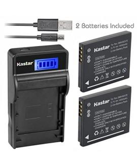 Kastar Battery (X2) & SLIM LCD Charger for Panasonic DMW-BCK7, DMW-BCK7E and Lumix DMC-FH25 FH27 DMC-FP5 FP7 DMC-FS16 FS18 FS22 FS35 FS37 DMC-S1 S2 S3 DMC-SZ1 DMC-SZ5 DMC-SZ7 DMC-TS20 DMC-TS25