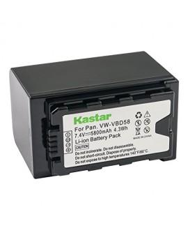 Kastar VBD58 Battery 1 Pack for Panasonic VW-VBD29 VW-VBD58 VW-VBD78 & Panasonic AG-3DA1 AG-AC8 AG-DVC30 AG-HPX171 AG-HPX250 AG-HPX255 AG-HVX201 AJ-PCS060 AJ-PX270 AJ-PX298 HC-MDH2 HC-X1000 HDC-Z10000