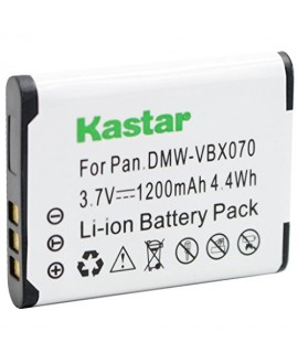 Kastar VW-VBX070 Battery 1 Pack for Pentax D-Li88 Panasonic VW-VBX070 Sanyo DB-L80 DB-L80AU & Pentax Optio H90 P70 P80 W90 WS80 Panasonic HX-DC1 DC2 DC10 DC15 WA10 HM-TA2 TA20 Camera