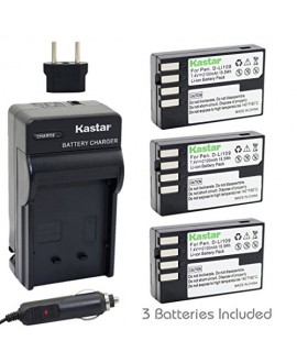 Kastar D-Li109 Battery (3-Pack) and Charger Kit for Pentax D-Li109, DLI109 work with Pentax K-R, K-30, K-50, K-500, KR, K30, K50, K500 Cameras