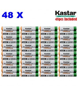 Kastar AAA (48-Pack) Ni-MH 1000mAh Super High-Capacity Rechargeable Batteries Pre-charged