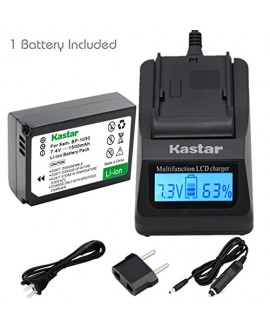 Kastar Ultra Fast Charger(3X faster) Kit and Battery (1-Pack) for Samsung BP1030, BP1030B, BP1130, ED-BP1030 work for Samsung NX200, NX210, NX300, NX300M, NX1000, NX1100, NX2000 Cameras [Over 3x faster than a normal charger with portable USB charge functi