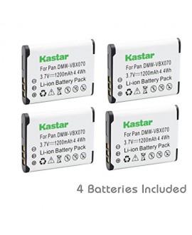 Kastar VW-VBX070 Battery (4-Pack) for Pentax D-Li88, Panasonic VW-VBX070, Sanyo DB-L80, DB-L80AU Battery and Digital Cameras (Search your Camera Model down Description)