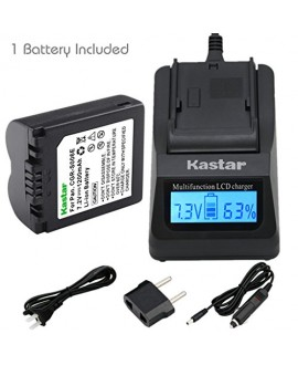 Kastar Ultra Fast Charger(3X faster) Kit and Battery (1-Pack) for CGR-S006, CGR-S006A1B, CGA-S006, DMW-BMA7 work with Panasonic Lumix DMC-FZ18, DMC-FZ28, DMC-FZ30, DMC-FZ35, DMC-FZ38, DMC-FZ50, DMC-FZ7, DMC-FZ8 Cameras [Over 3x faster than a normal charge