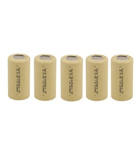 Kastar 5 Packs Sub C 2200mAh NiCd Flat Top Rechargeable Battery (No Tabs)