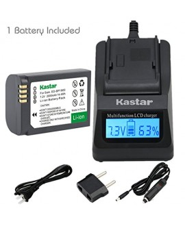 Kastar Ultra Fast Charger(3X faster) Kit and Battery (1-Pack) for Samsung ED-BP1900, BP1900 Battery and Samsung NX1 Smart Wi-Fi 4K Digital Camera
