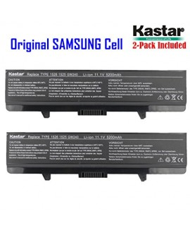 Kastar New Laptop Battery (2-Pack) for Dell Inspiron 1525 1526 1545 PP29L PP41L Series, Fits P/N X284G M911 M911G GW240 GP952 RN873 K450N RU586 C601H 312-0844 - [with Samsung Li-ion 6-cell 11.1V / 5200mAh 58Wh]
