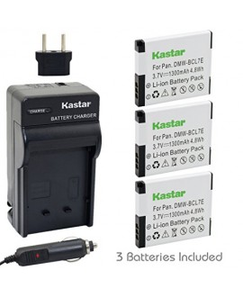 Kastar Battery (3-Pack) and Charger Kit for Panasonic DMW-BCL7E, DMW-BCL7 work with Panasonic Lumix DMC-F5, Panasonic Lumix DMC-FH10, Panasonic Lumix DMC-FS50, Panasonic Lumix DMC-SZ3, Panasonic Lumix DMC-SZ9, Panasonic Lumix DMC-XS1, Panasonic Lumix DMC-