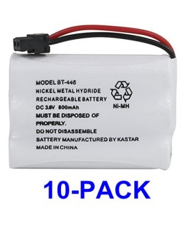 Kastar 10 Pack BT446 Cordless Phone Battery, Genuine Uniden Quality, for Uniden BT-446 BT446, BP-446 BP446, BT-1005 BT1005, TRU8885, TRU8885-2, TRU88852, TRU8888, TRU9460, TRU9465, TRU9480, TCX-800