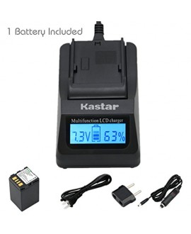 Kastar Ultra Fast Charger(3X faster) Kit and Battery (1-Pack) for JVC BN-VF733 and JVC GR-D245, GR-D246, GR-D247, GR-D250, GR-D253, GR-D270, GR-D271, GR-D275, GR-D290, GR-D293, GR-D295, GR-D370, GR-D371, GR-D375, GR-D390, GR-D393, GR-D395, GR-D396, GR-D45