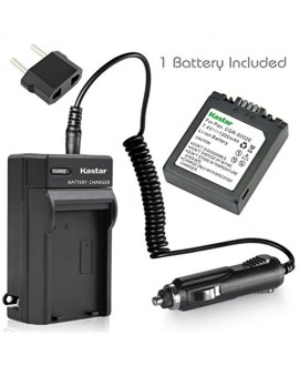 Kastar S002 Battery (1 Pack) and Charger Kit for Panasonic CGA-S002 DMW-BM7 and Panasonic Lumix DMC-FZ1 DMC-FZ2 DMC-FZ3 DMC-FZ4 DMC-FZ5 DMC-FZ10 DMC-FZ15 DMC-FZ20 Cameras