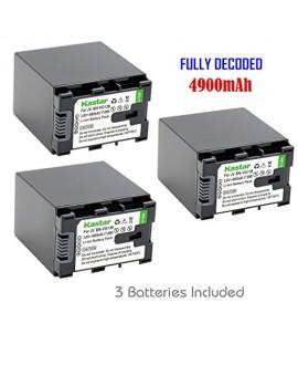 Kastar BN-VG138 Battery (3-Pack) for JVC BN-VG138 BN-VG138U BN-VG138US, BN-VG121 BN-VG121U BN-VG121US, BN-VG114 BN-VG114U BN-VG114US, BN-VG107 BN-VG107U BN-VG107US Battery and JVC Everio Cameras
