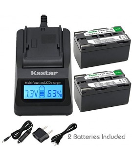 Kastar Battery Charger with Car and EU Adapters Replacement for Samsung SB-L110A SB-L160A SB-L220A SB-L160 SB-L320 SB-L480 Batteries and Samsung SCL906 SC-L906 SCL907 SC-L907 SC-W97 Camcorder