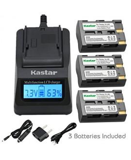 Kastar Fast Charger and Battery(3X) for Pentax D-Li50 Konica Minolta NP-400 and Pentax K10 K10D K20 K20D Minolta A-5 A-7 Dimage A1 A2 Dynax 5D 7D Maxxum 5D 7D Samsung SLB-1647 GX-10/20 Sigma BP-21 SD1